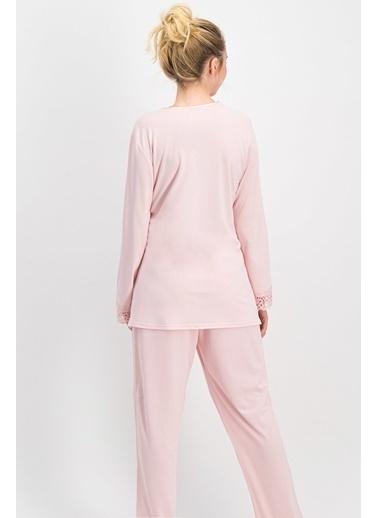 Arnetta Arnetta Queen Mommy Ekru  Kadın Lohusa Pijama Takımı Pudra